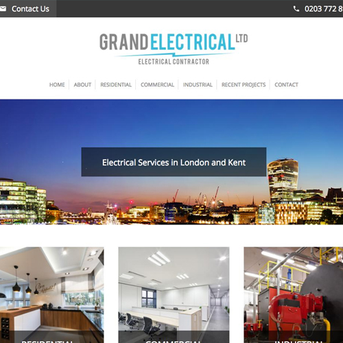 Grand Electrical website screenshot